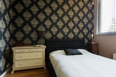Oriental decorated bedroom Royalty Free Stock Images