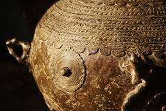 Oriental decorated jar Stock Images