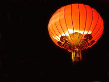 Oriental decoration. Red chinese lantern on black background Royalty Free Stock Photography