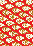Oriental decorative clouds. Oriental clouds collection graphic illustration Royalty Free Stock Photography