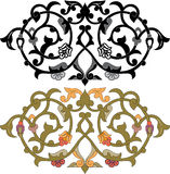 Oriental decorative design elements Stock Images