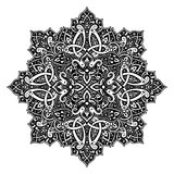 Oriental decorative element. Ethnic pattern in black and white colors. Oriental decorative element. Boho style vector illustration Royalty Free Stock Photos