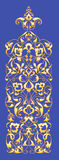 Oriental decorative element. Zentangle gold on a blue background. Vector illustration Royalty Free Stock Photos