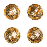 Oriental decorative golden balls Royalty Free Stock Images