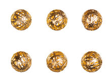 Oriental decorative golden balls Stock Photo