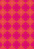Oriental decorative icons. Red colour decorative icons graphic illustration Royalty Free Stock Images
