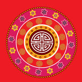 Oriental decorative icons Royalty Free Stock Image