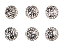 Oriental decorative silver balls Stock Photography