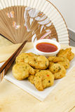 Oriental Deep Fried Battered King Prawns Royalty Free Stock Images