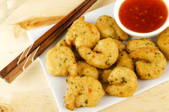 Oriental Deep Fried Battered King Prawns Royalty Free Stock Image