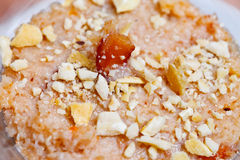 Oriental desert - Coconut Halwa Stock Photos