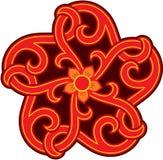 Oriental Design Element. Star Shape Rosette royalty free illustration