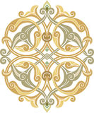 Oriental design element. Oriental ornament vector design in colorful seamless pattern Stock Photography