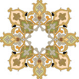 Oriental design element. Oriental ornament vector design in colorful seamless pattern Stock Images