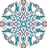Oriental design element. Oriental ornament vector design in colorful seamless pattern Stock Photos