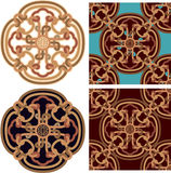 Oriental Design Element with Seamless Tile Royalty Free Stock Photo
