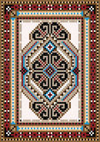 Oriental design in the frame for carpet Stock Image
