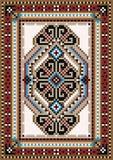 Oriental design in the frame for carpet. Oriental design  for the rug and the ornamental details for the frame Stock Image