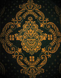 Oriental Design Pattern. A woven oriental design in blue and gold Stock Photos