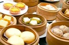 Oriental Dim Sum. Oriental Chinese dim sum served at famous hotel Royalty Free Stock Photo