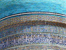Oriental  dome. Colored decoration on oriental  dome Stock Photography