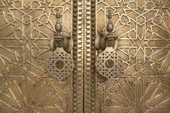 Oriental door detail in Morocco Royalty Free Stock Photo