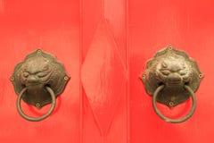 Oriental door knob Royalty Free Stock Photos
