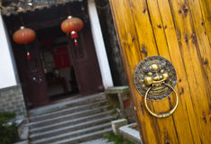 Oriental door knob Royalty Free Stock Photo