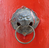 Oriental door knob Royalty Free Stock Photos