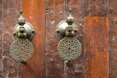 Oriental door knobs, Morocco Royalty Free Stock Photos