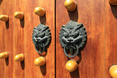Oriental door knocker Royalty Free Stock Images