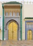 Oriental doors in Morocco Royalty Free Stock Photos