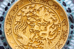 Oriental dragon and swan Stock Image