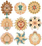 Oriental elements rosace vector Stock Photos