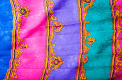 Oriental fabric background Royalty Free Stock Images