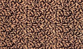 Oriental floral design on a fabric, detail Stock Photography