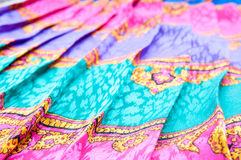Oriental fabric details Stock Photography