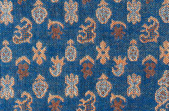 Oriental fabric texture background Royalty Free Stock Image
