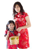 Oriental family Stock Photography