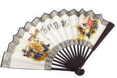 Oriental fan on white Stock Photos