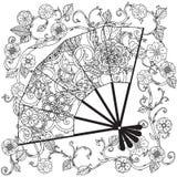 Oriental fan zentagle Stock Image