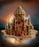 Oriental fantasy castle Stock Photos