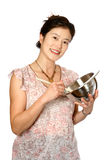 Oriental female mixing bowl Stock Images