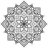 Oriental filigree mandala. Royalty Free Stock Photography