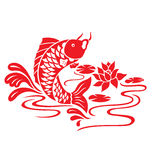 Oriental Fish Swimming. An Oriental Fish jump up from the pond Stock Photography