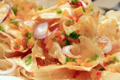Oriental flavored nachos Royalty Free Stock Image