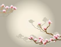 Oriental floral background. Blossom spring tree, design for cards, backgrounds or wallpapers Stock Photo