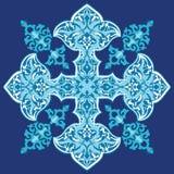 Oriental floral design. Illustration of seamless Oriental floral design in different shades of blue Stock Image