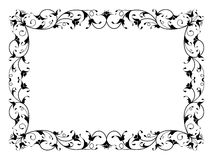 Oriental floral ornamental decorative black frame Stock Image