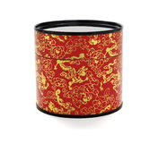 Oriental Floral Paper Container Stock Photography